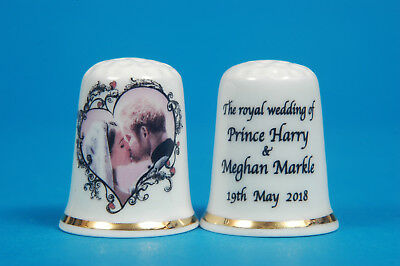 The Kiss No.2 Prince Harry & Meghan 'The Royal Wedding 2018' China Thimble B/115