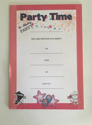 BRAND NEW  Ice Skating Party Invitations Pad of 10 invites