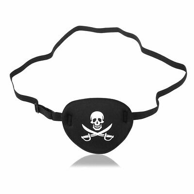 New Pirate Skull Cross bone Eye Patch Mask Eye shade for Adult Lazy Eye Black UK