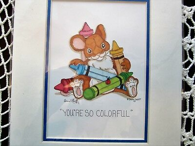 """Charming Tails PRINT """"You're So Colorful"""" Unframed Print 8 x 11 Has COA #81/12"""