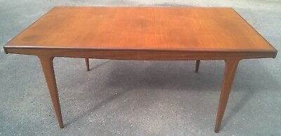 Mid Century Danish Style Teak Extending Dining Table A Younger