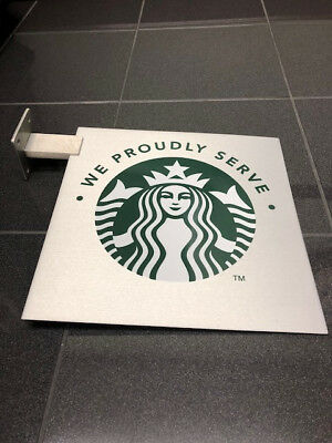 "Starbucks Sign - New Blade Logo Sign with Mounting Apparatus 12""X 12"""