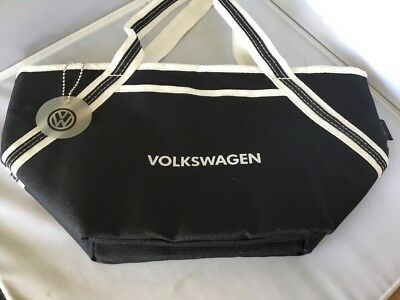 Volkswagon Insulated Thermal Lunch Bag Carry All Black Logo Nwot D21