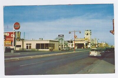 LORDSBURG NEW MEXICO Railroad Ave Gulf & Texaco Gas Stations Greyhound Bus  Etc