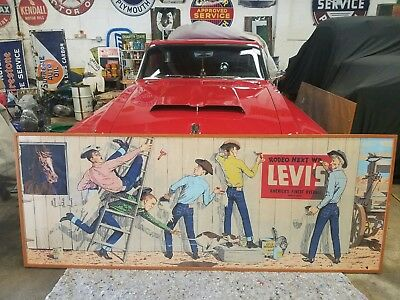 1950's VINTAGE LEVIS ADVERTISING SIGN