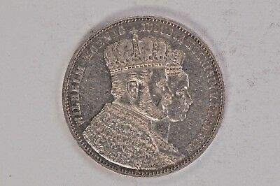 1861 Germany Prussia Coronation Thaler .99c NO RESERVE