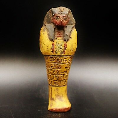 Fine Ancient Egyptian Terracotta Ushabti (Shabti) Statue Figure, 1550 BC