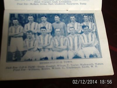 huddersfield town & leeds united team groups with line-ups 1925 10cm by 7cm