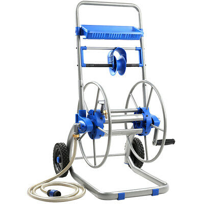 NEW Blue & Silver Steel Garden Hose i.Life Outdoor - Accessories