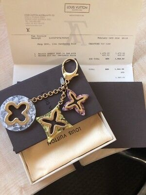 Authentic Louis Vuitton Insolence Pastel Bag Charm - RRP new $490 (have Receipt)