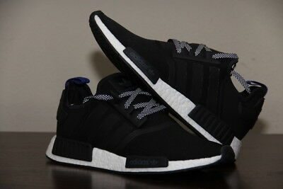 more photos e10cf af05a ADIDAS NMD R1 ORIGINALS MEN'S RUNNING SHOES BLACK/CORE WHITE/BLUE S31515  Size 11