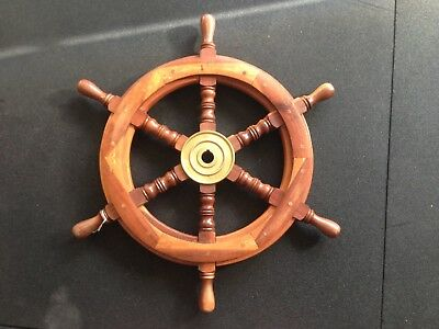 Excellent Condition Ships Wooden Steering Wheel