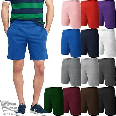 Mens Sweat Shorts Fleece Track Pants Casual Lounge HIP HOP Gym Training Campus