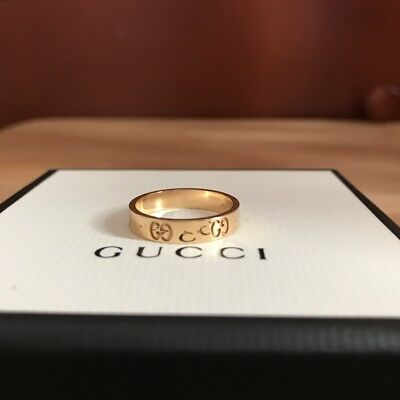 5582b95be GUCCI GOLD ICON Ring 100% Authentic RRP £585 - £485.00 | PicClick UK