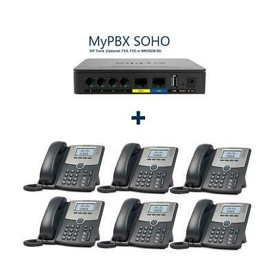YEASTAR MYPBX SOHO Ip-Telefonanlage New + 6x Cisco SPA504G Voip