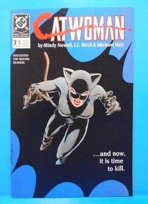 CATWOMAN #3 of 4 1989 DC Comics Uncertified Limited Series MATURE READERS ONLY