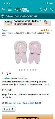 Boppy Infant to Toddler Head and Neck Support Prism Pink For Use from Ages 0+