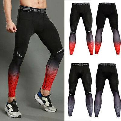 Mens Compression Legging Gym Running Training Bottoms Wicking Pro Workout Pants