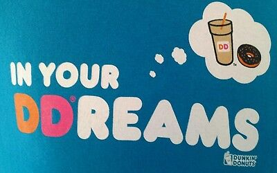 DUNKIN DONUTS Medium T-Shirt In Your DDreams S/S Blue M