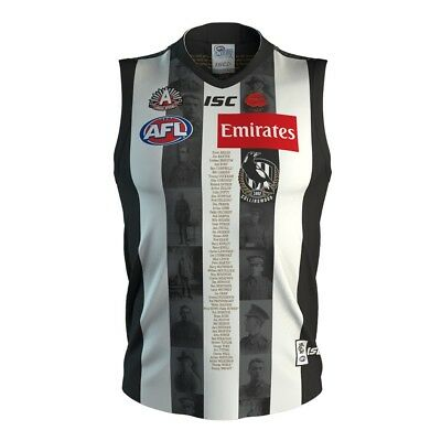 NEW Official 2018 Collingwood ANZAC Day Guernsey (Large and X-Large Available)