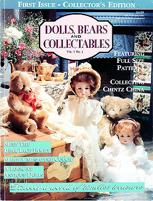 Dolls Bears & Collectables Vol 1 #1 Collectors Edition Pattern Lily Librarian