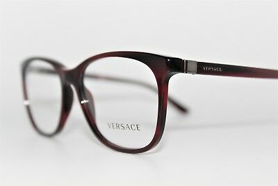 11abc8f431a New Versace Mod 3187 5045 Dark Burgundy havana Authentic Eyeglasses Frame  55Mm