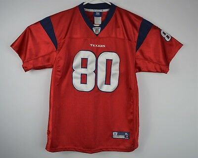5ae5bccd1 ANDRE JOHNSON HOUSTON TEXANS JERSEY YOUTH XL  80 REEBOK NFL FOOTBALL Red