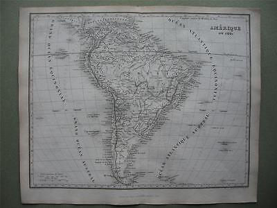 1842 - DUFOUR - Map SOUTH AMERICA