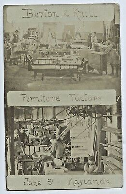 C1910 Rp Npu Adv Postcard Burton & Knill Furniture Factory Maylands Sa K4