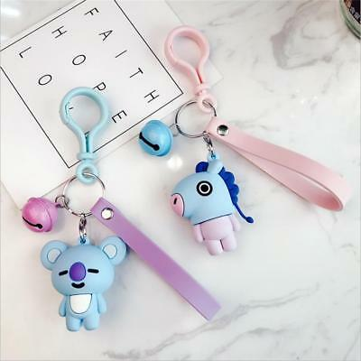 Kpop BTS BT21 TATA KOYA Keychain COOKY MANG Key Holder Chain Bag Pendant Keyring