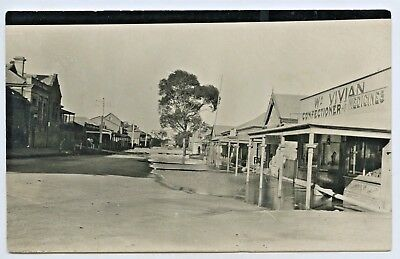 1917 Rp Npu Postcard River Murray Flood Main Street Mannum Sa K6
