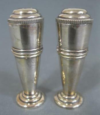 Vintage art deco EPNS salt & pepper shakers Devon silver plated