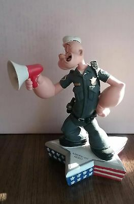 Extremely Rare! Popeye as Police Officer Figurine Limited Edition of 3600 Statue