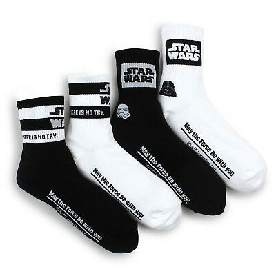 (4 Pairs) Star Wars Socks Women Junior Clothes Darth Vader Trooper Costume  SR14