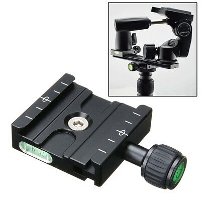 Black QR- 50 Clamp Quick Release Plate Clamp Mount Base For Arca Swiss Tripod