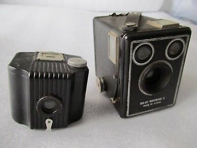 2 Vintage 1940's/50's Kodak cameras, Baby Brownie Special, Six 20 Brownie C Box