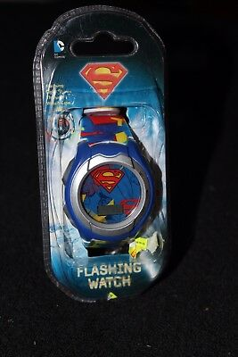 Boys/Girls Superman LCD Flashing lights watch Black DC Comics - NIP