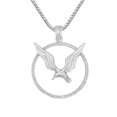 """Sterling Silver SEAGULL Pendant / Charm, Made in USA, 18"""" Italian Box Chain"""