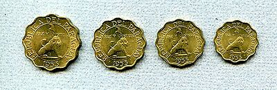 Paraguay 10 - 50 C 1953 set of 4 Uncirculated KM 25 - 28