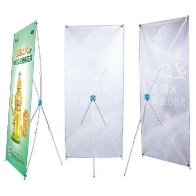 X Banner Stand Tripod Trade Display Sign Advertising Rack 60*160 cm Pop Sale