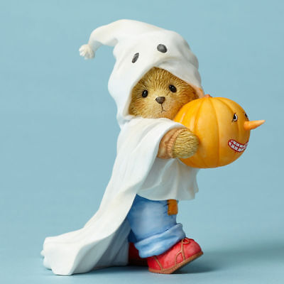 Enesco Cherished Teddies 4053444 Gareth Share A Boo-tiful Smile Ghost Figurine