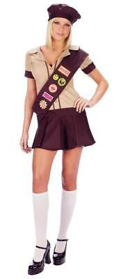 Fancy Dress Costume Girl Guide Brownie /& Hat for Hen Nights 60s 70s 80s 90s