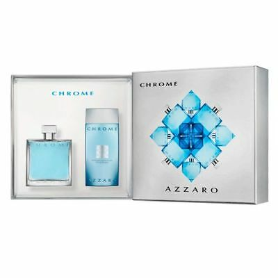 Coffret AZZARO CHROME Eau de toilette 100ml + Gel douche 200ml