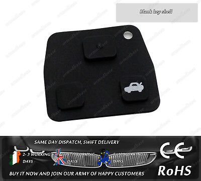 For Toyota Avensis Corolla RAV4 Yaris Remote Key FOB Replacement 3 Buttons
