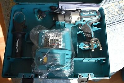 Makita BHP451 LXT combi drill, 18v charger & case - Brand new, never used