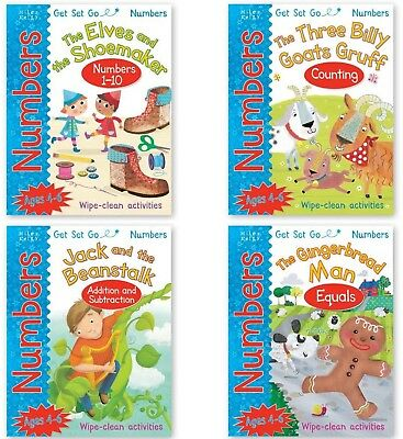 Fairytale Collection Wipe Clean Books Numbers, Counting, Addition Subtraction
