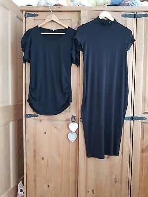 Maternity Bundle Size 14 Black Dress Top Red Herring New Look