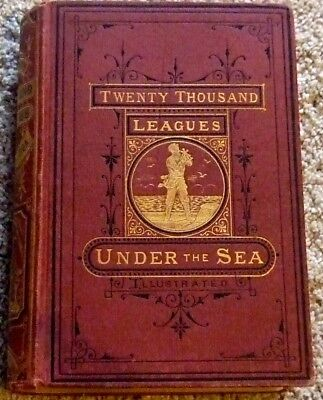 Twenty Thousand Leagues Under The Sea  Jules Verne 1873 First Edition