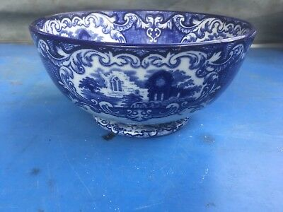 Abbey 1790 vintage blue and white bowl