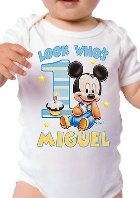 Mickey Mouse Birthday Shirt Personalized Custom Name and Age Mickey Mouse Shirt